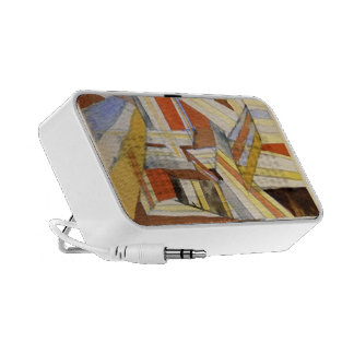 Paul Klee Transparent in perspective Grooved iPhone Speaker