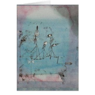 Paul Klee Twittering Machine Greeting Card