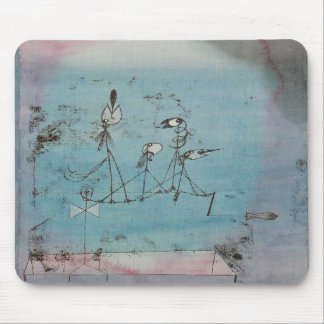 Paul Klee Twittering Machine Mouse Pad