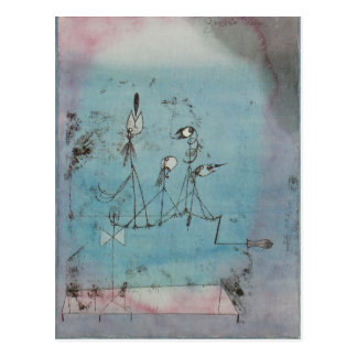 Paul Klee Twittering Machine Postcard