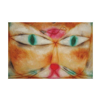Paul Klee's Cheshire Cat And Bird On Cloth Canvas Print