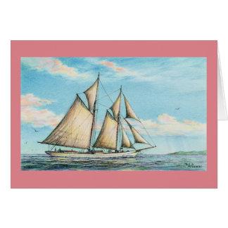 """Paul McGehee """"Jamaican Schooner"""" Card Note Card"""