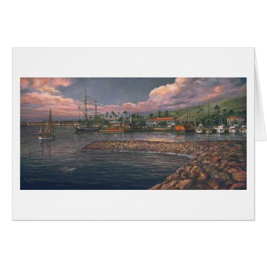 "Paul McGehee ""Lahaina Harbour at Twilight"" Card"