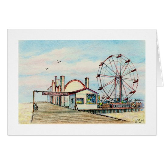 "Paul McGehee ""Luna Park - Ocean City, MD"" Card"