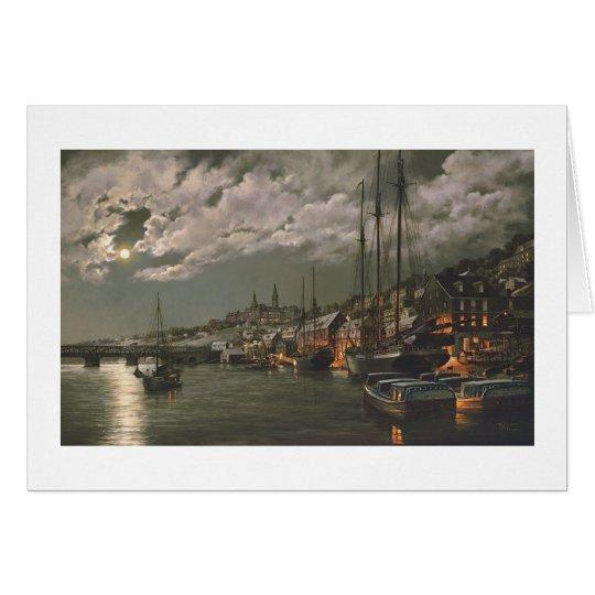 """Paul McGehee """"Old Georgetown by Moonlight"""" Card"""