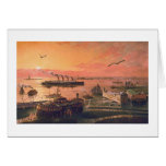"Paul McGehee ""Old New York Harbour"" Card"