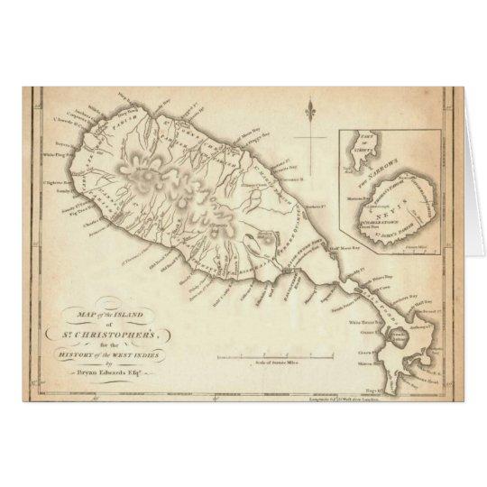 "Paul McGehee ""Old St. Kitts & Nevis Map"""