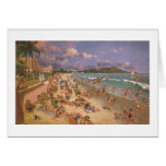 "Paul McGehee ""On the Beach at Waikiki"" Card"