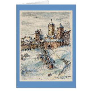 "Paul McGehee ""Rothenburg"" Christmas Card (German)"