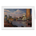 """Paul McGehee """"The Inner Harbour of Baltimore"""" Card"""