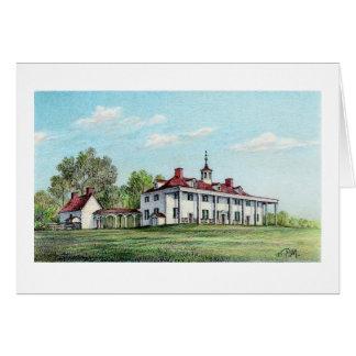 """Paul McGehee """"Washington's Mount Vernon"""" Card"""