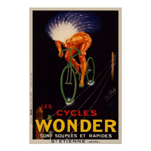Paul Mohr's Vintage Wonder Cycle Advertisement Poster