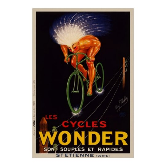 Paul Mohr's Vintage Wonder Cycle Advertisement Poster