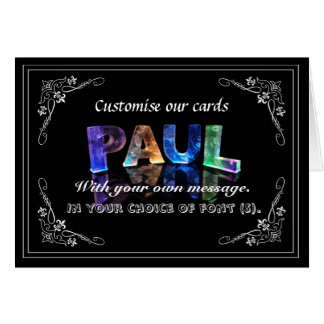Paul -  Name in Lights greeting card (Photo)