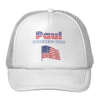 Paul Patriotic American Flag 2010 Elections Trucker Hats
