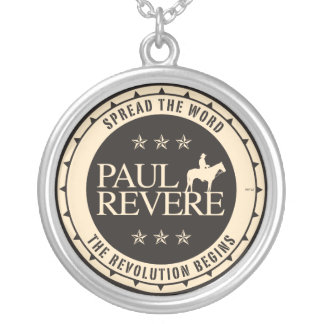 Paul Revere Round Pendant Necklace