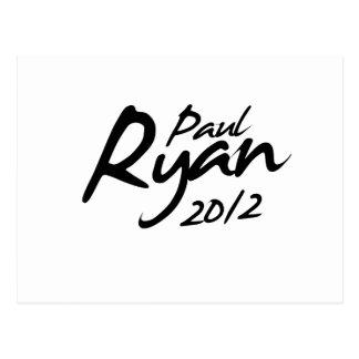 PAUL RYAN 2012 Autograph Post Cards