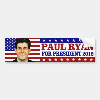 Paul Ryan for President 2012 Bumper Sticker