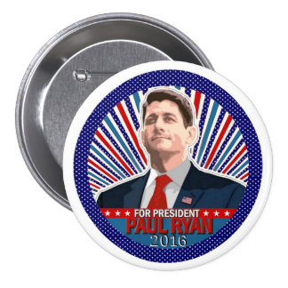 Paul Ryan for President 2016 Pinback Buttons
