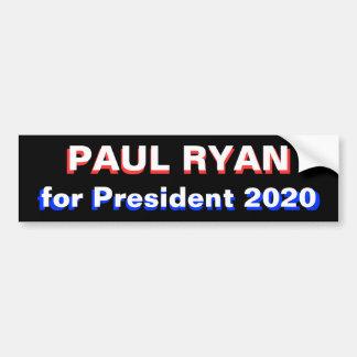 Paul Ryan for President 2020 Car Bumper Sticker