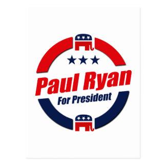 PAUL RYAN FOR PRESIDENT (Republican) Postcard
