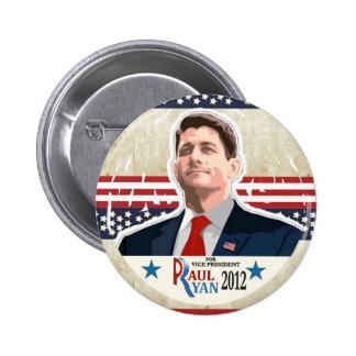 Paul Ryan for Vice President in 2012 6 Cm Round Badge