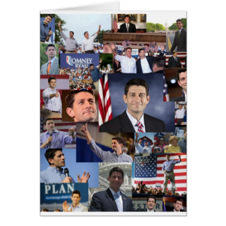 Paul Ryan On the Campaign Collage Note Cards
