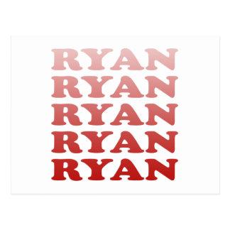 PAUL RYAN PATTERN POSTCARD