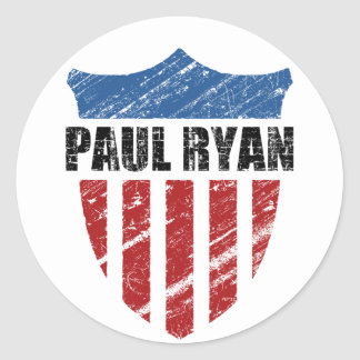 Paul Ryan Round Sticker