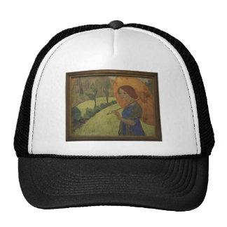 Paul Serusier- Madame Serusier with a Parasol Hat