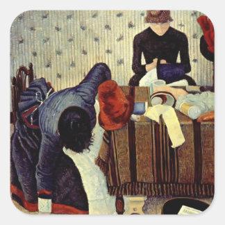 Paul Signac- The Milliner Square Sticker