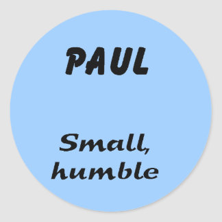 Paul Stickers