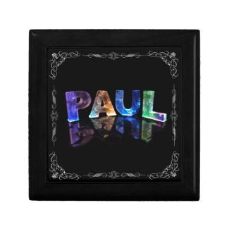 Paul - The Name Paul in 3D Lights (Photograph) Gift Box