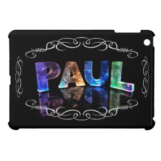 Paul - The Name Paul in 3D Lights (Photograph) Case For The iPad Mini
