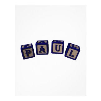 Paul Toy blocks in blue Personalized Flyer