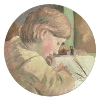 Paul Writing, c.1894 (oil on canvas) Party Plate