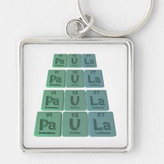 Paula as Protactinium Silver-Colored Square Key Ring