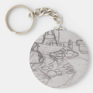 Paula Becker: Seated Woman in market stalls Key Chains