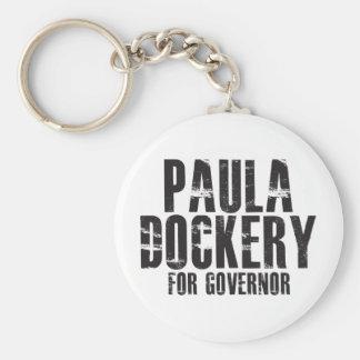 Paula Dockery For Governor 2010 Basic Round Button Key Ring