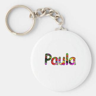 Paula Basic Round Button Keychain