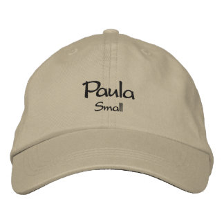 Paula / Means Small Embroidered Cap