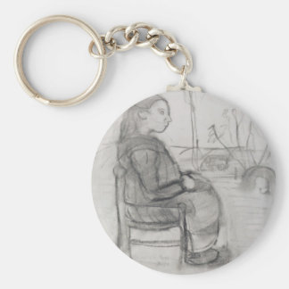 Paula Modersohn: Seated girl in a landscape Keychains