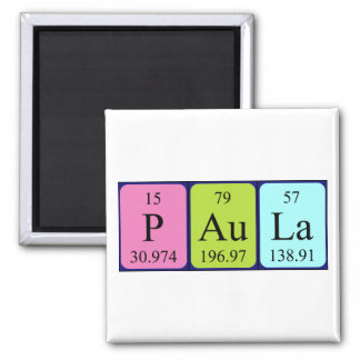 Paula periodic table name magnet