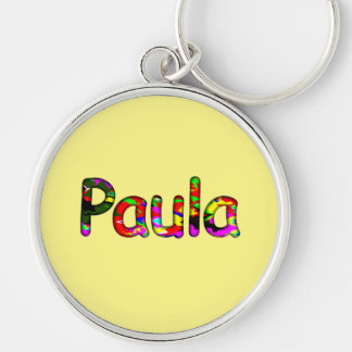 Paula Silver-Colored Round Key Ring
