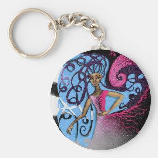 Paula's Cosmic Birthday Party Basic Round Button Key Ring