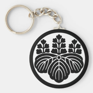 Paulownia with 5&7 blooms in rice cake basic round button key ring