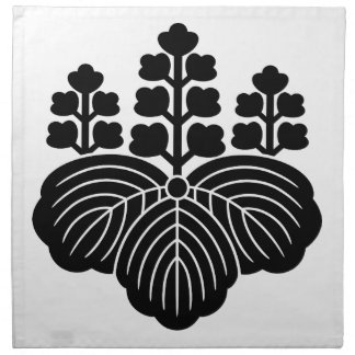 Paulownia with 5 7 blooms printed napkins