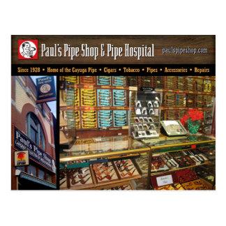 Paul's Pipe Shop Postcard