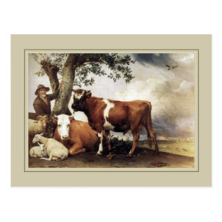 Paulus Potter,'Young Bull' 1647 Post Cards