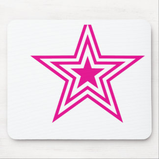 Pauly Star-Pink Mouse Pad